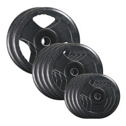 Sport-Thieme Rubber Competition Dumbbell Weight Disc Set, 50 kg