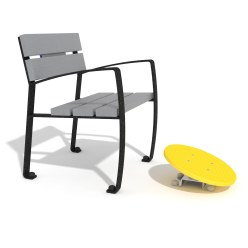 Vitalis-Park Single Bench with Foot Balance Disc