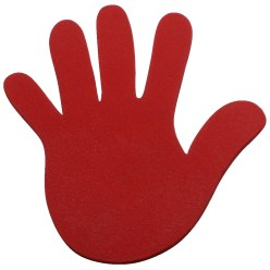 Sport-Thieme® Floor Markers Red, Hand, 14.5 cm