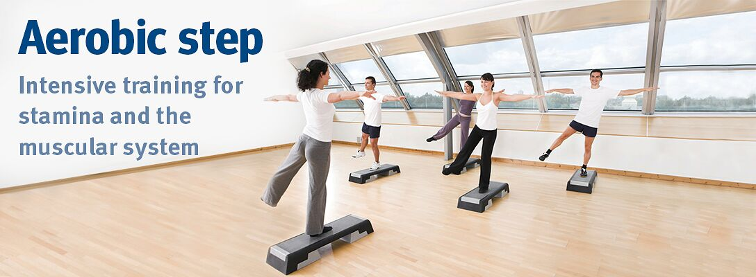 Aerobic step – Intensive training for stamina and the muscular system