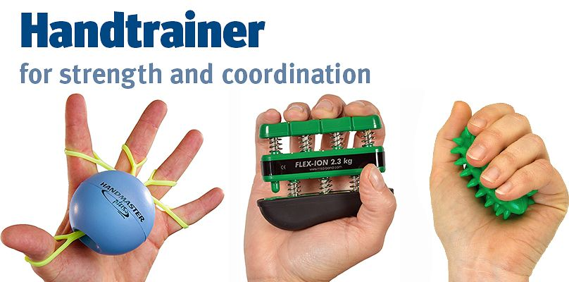 Handtrainer: for strength and coordination