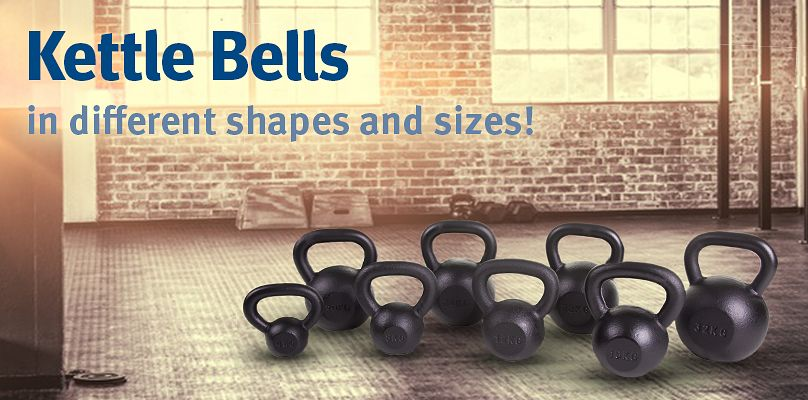 Kettlebells: different shapes and sizes!
